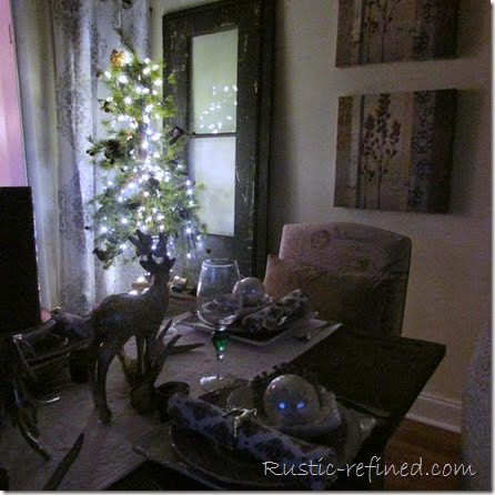 i need to decorate my living room accent tables christmas tablescape roaming deer - rustic & refined