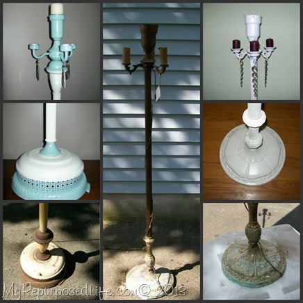My Repurposed Life-Spray paint vintage lamps