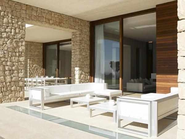 pared-piedra-vista Casa Monasterios / Diseño Ramón Esteve, España