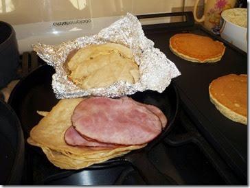 12 Tortillas y jamón para huevos estrellados