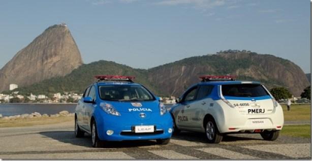 Nissan LEAF farão parte da frota do Batalhão de Turismo