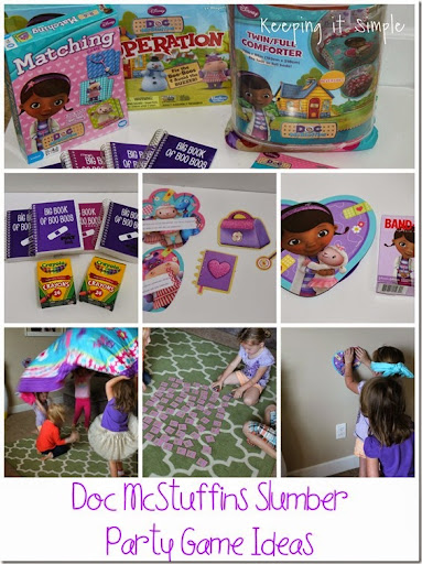 Keeping it simple doc mcstuffins slumber party game ideas
