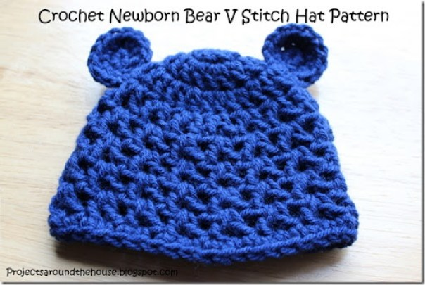 e9e753c3bce Crochet Newborn Bear V Stitch Hat Pattern - Renewed Claimed Path