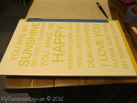 how to use vinyl as a stencil