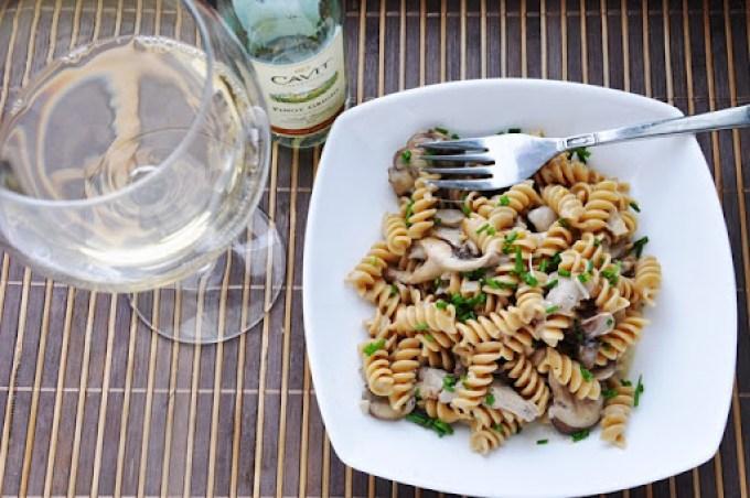 creamy mushroom pasta 094