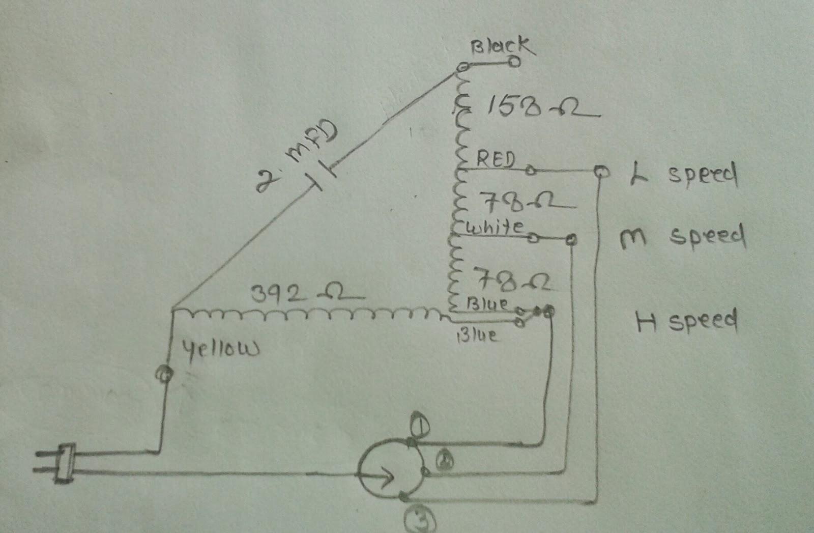 hight resolution of khaitan table fan super model winding data