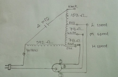 small resolution of khaitan table fan super model winding data