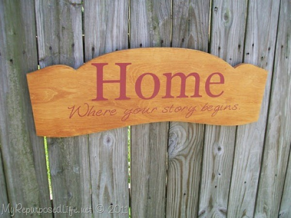Home, Where Your Story Begins Headboard Sign