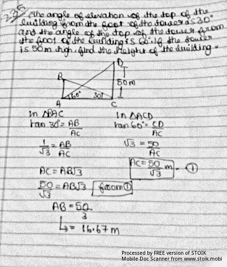 ALL CBSE STUFF ©: IMPORTANT QUESTION SOME APPS OF TRIGO
