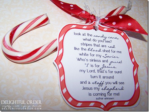 Delightful Order Free Printable Candy Cane Poem