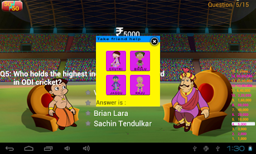 Cricket Quiz with Bheem screenshot 8