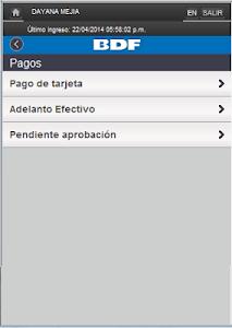 iBDF Móvil screenshot 2