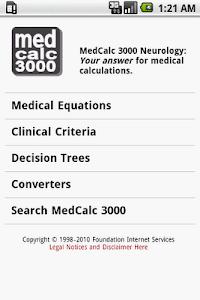 MedCalc 3000 Neurology screenshot 0
