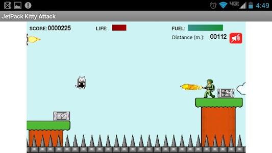 Jet Pack Kitty Attack screenshot 0