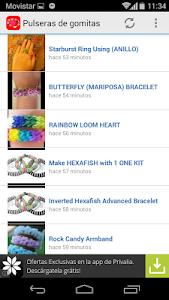 Rubber bands bracelets screenshot 0