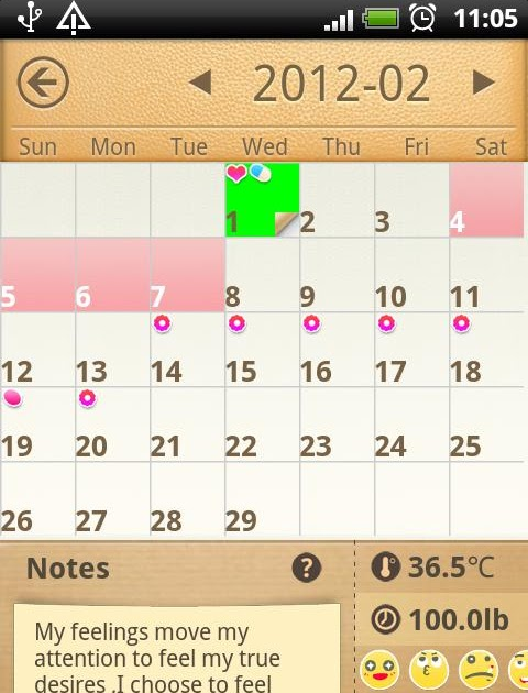 Period Calendar / Tracker 1.27 for Android   Info Apps Android
