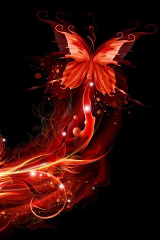 Falling Stars Live Wallpaper Download The Neon Butterfly Live Wallpapers Android Apps