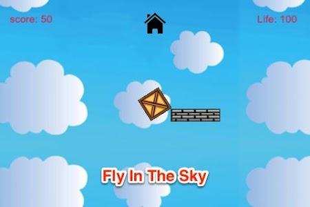 Jumpy Box: Cloudy Sky Fly Free screenshot 1