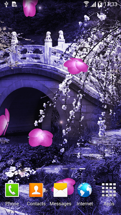 Sakura Falling Live Wallpaper Apk Mystic Sakura Live Wallpaper Android Apps On Google Play