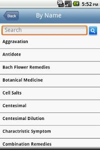 Homeopathy Glossary screenshot 2