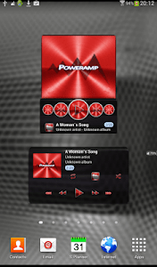 Poweramp widget - RED PLATIN screenshot 0