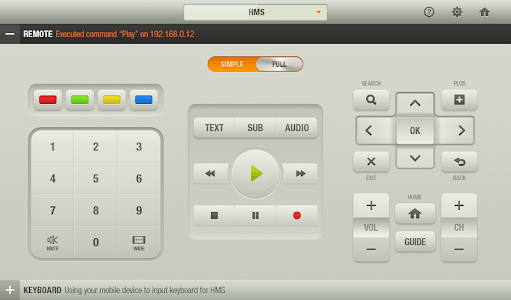 HUMAX Remote for Tablet screenshot 1