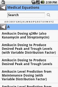 MedCalc 3000 Pharmacology screenshot 1