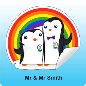 Gay Stickers - Mr & Mr Smith