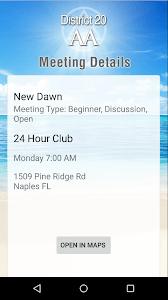District 20 AA Meetings screenshot 2