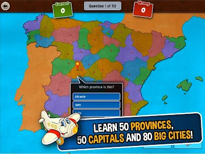 GeoFlight Spain: Geography screenshot 6