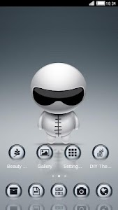 Cute Robot Launcher Theme screenshot 3