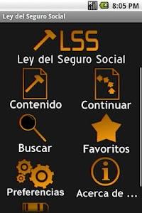 Ley del Seguro Social screenshot 0