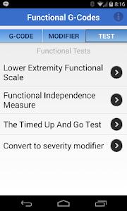 Functional G-Codes (PT/OT/SLP) screenshot 3