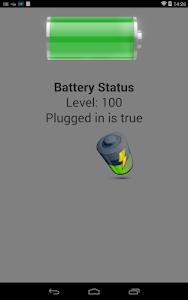 PhoneGapBattery screenshot 0
