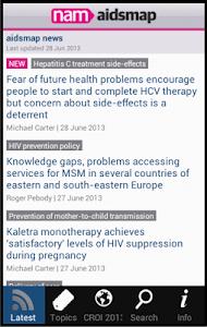 aidsmap news screenshot 0