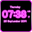 Neon Digital Clock LWP APK