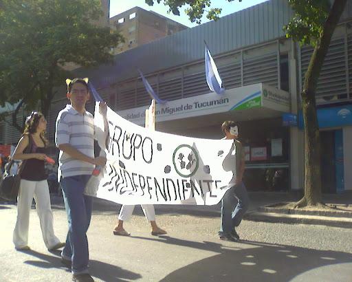 Manifestación frente a la Intendencia Capitalina