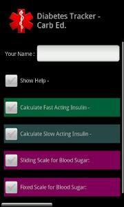 Diabetes Tracker Carb Ed. screenshot 5