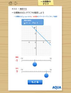 一次関数のグラフ さわってうごく数学「AQUAアクア」 screenshot 3