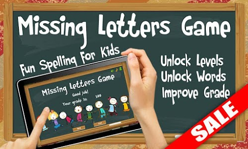 Missing Letters Spelling Kids screenshot 0