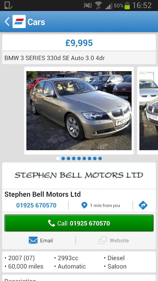 Racing Car Live Wallpaper Android Auto Trader Screenshot