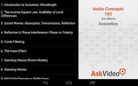Acoustics Concepts Course screenshot 2