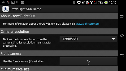 CrowdSight Face Analysis Demo screenshot 2