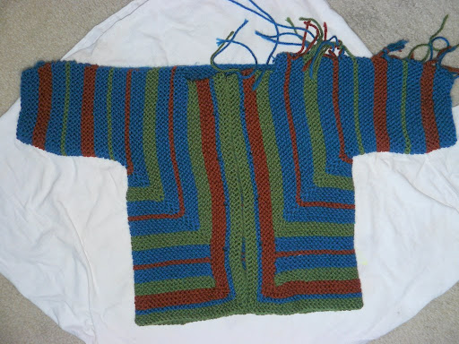 sweater, 100% knitting done