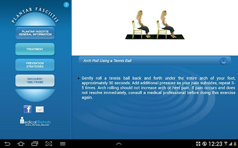 Plantar Fasciitis Tablet App screenshot 3