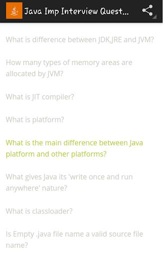 Java IMP Interview Questions 23筆1 1頁-APP點子