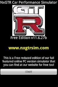 NxGTR Car Performance Sim screenshot 0