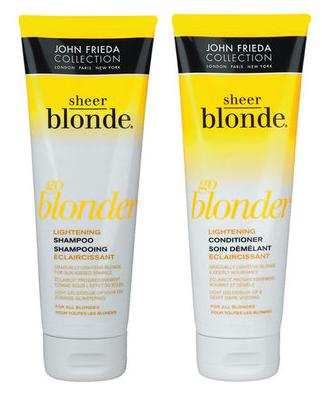 john frieda go blonder shampoo and conditioner snapshot review best beauty buys. Black Bedroom Furniture Sets. Home Design Ideas