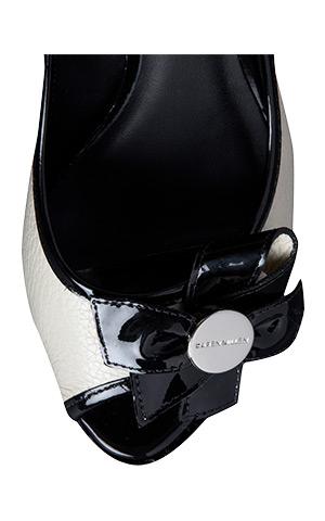 Bow Detail Monochrome Peep Toe Shoes by Karen Millen