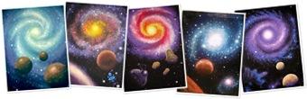 Vizualizare Galaxy paintings